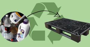 Plastpaller af genbrugsplast