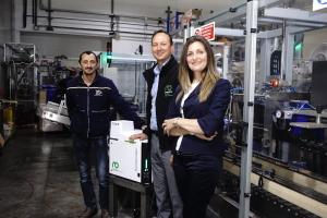 Marco di Tullio (Robatech) together with Massimo Di Paolo &  Viviana Izzo (Imach)